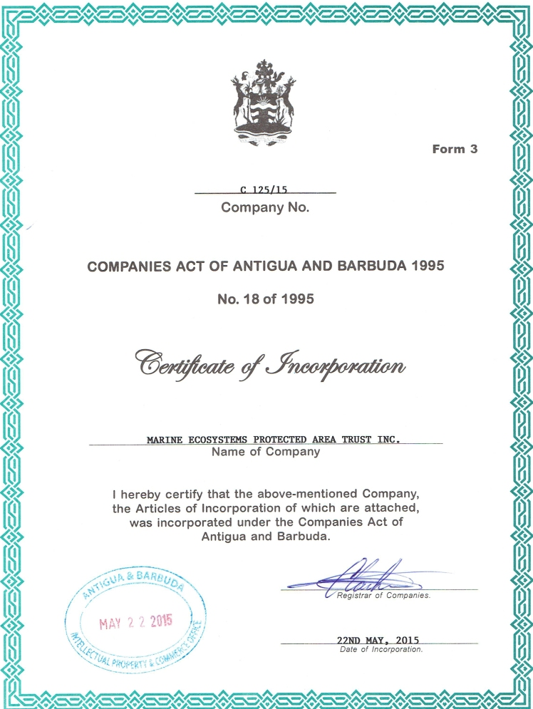 Certificate of Incorporation MEPA